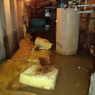 flooded crawlspace